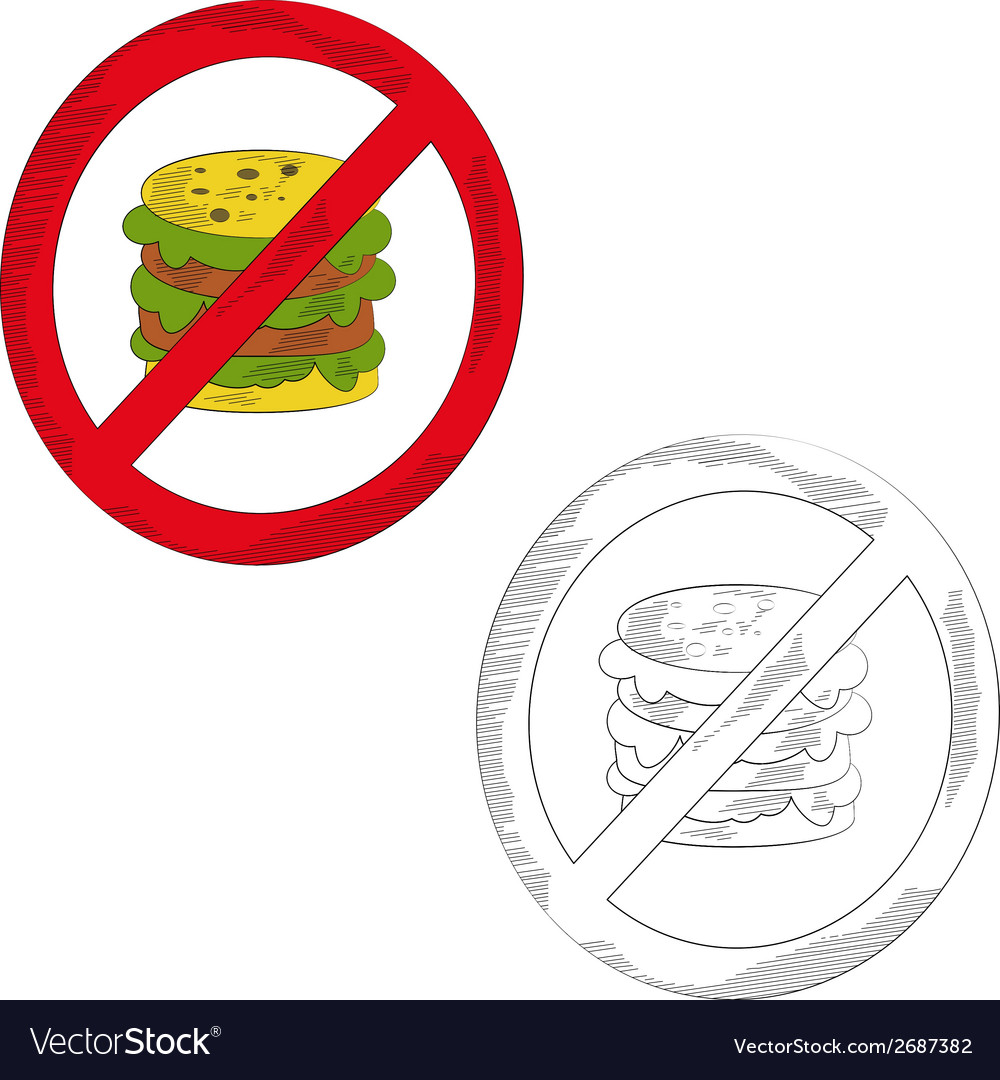 No gamburger vector | Price: 1 Credit (USD $1)