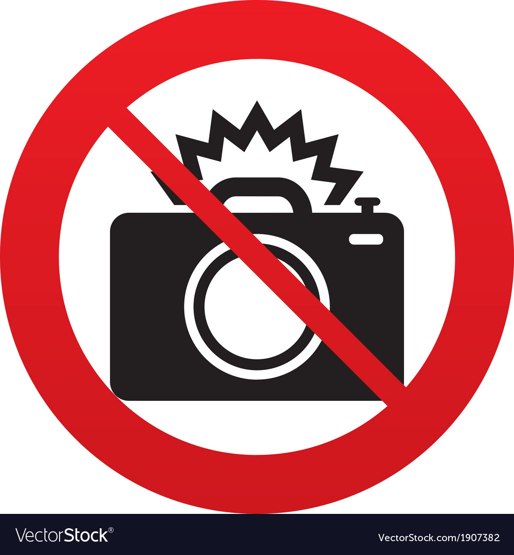 No photo camera sign icon photo flash symbol vector | Price: 1 Credit (USD $1)