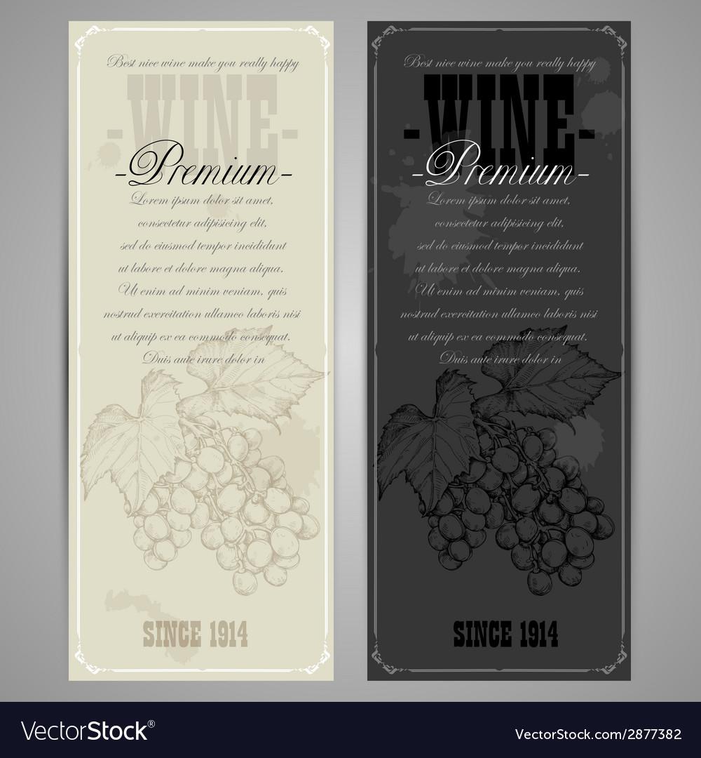 Premiun wine menu vector | Price: 1 Credit (USD $1)
