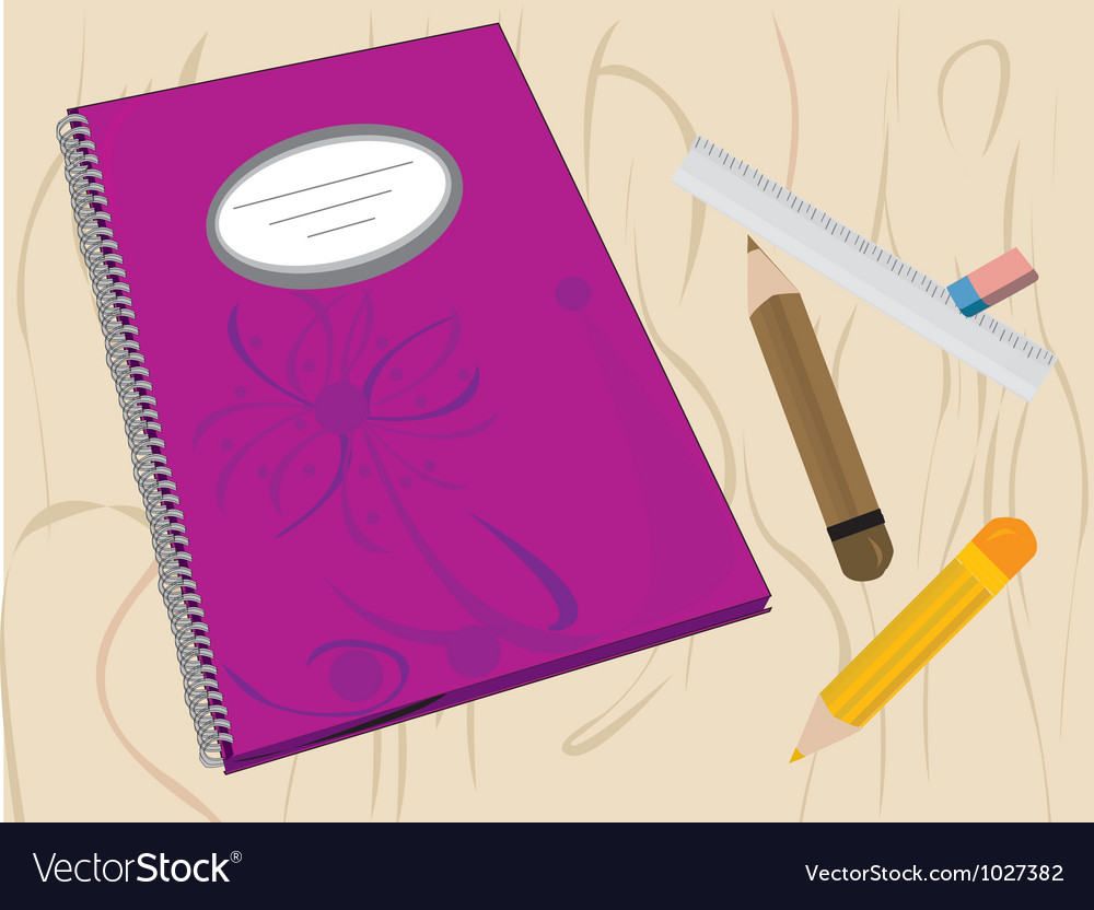 Writing journal vector | Price: 1 Credit (USD $1)