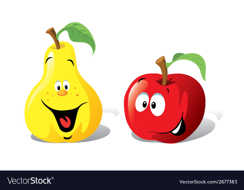 Apple and pear vector | Price: 1 Credit (USD $1)
