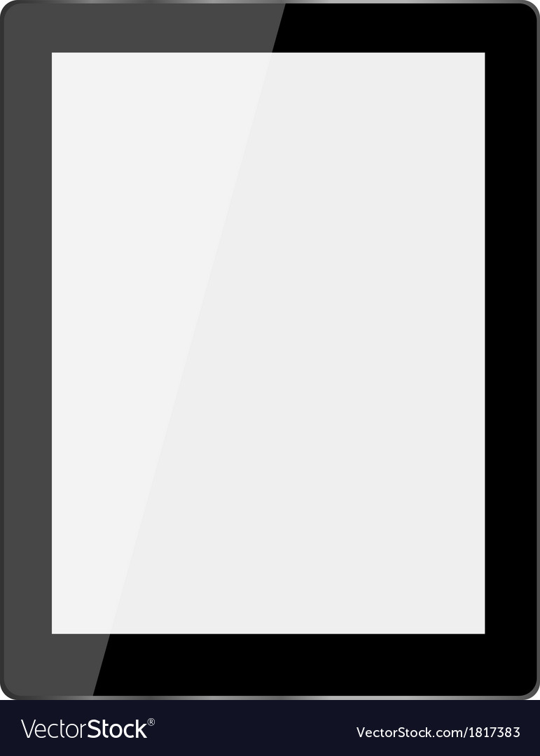 Computer tablet on white background vector | Price: 1 Credit (USD $1)