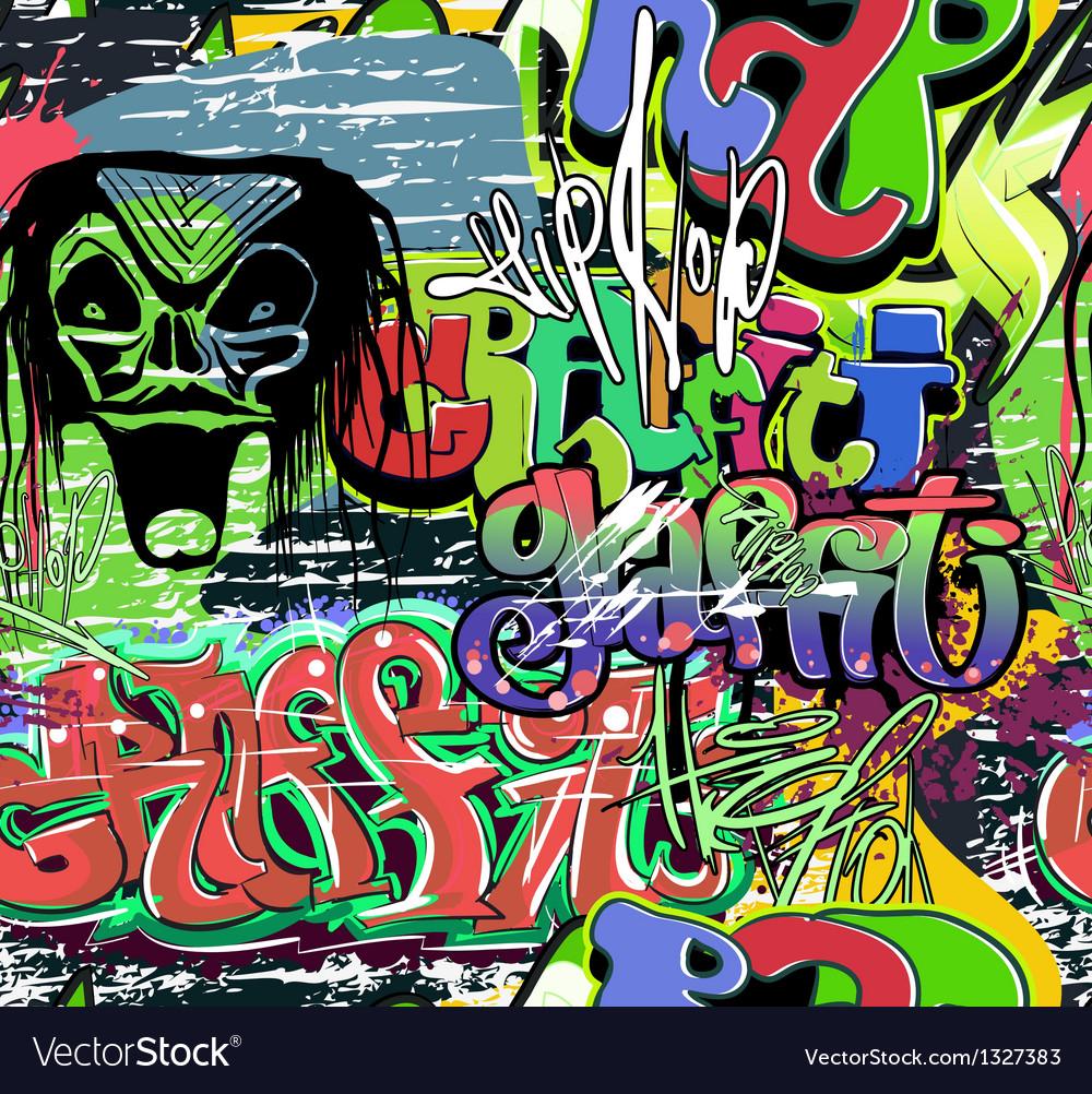 Graffiti wall urban background seamless vector | Price: 1 Credit (USD $1)