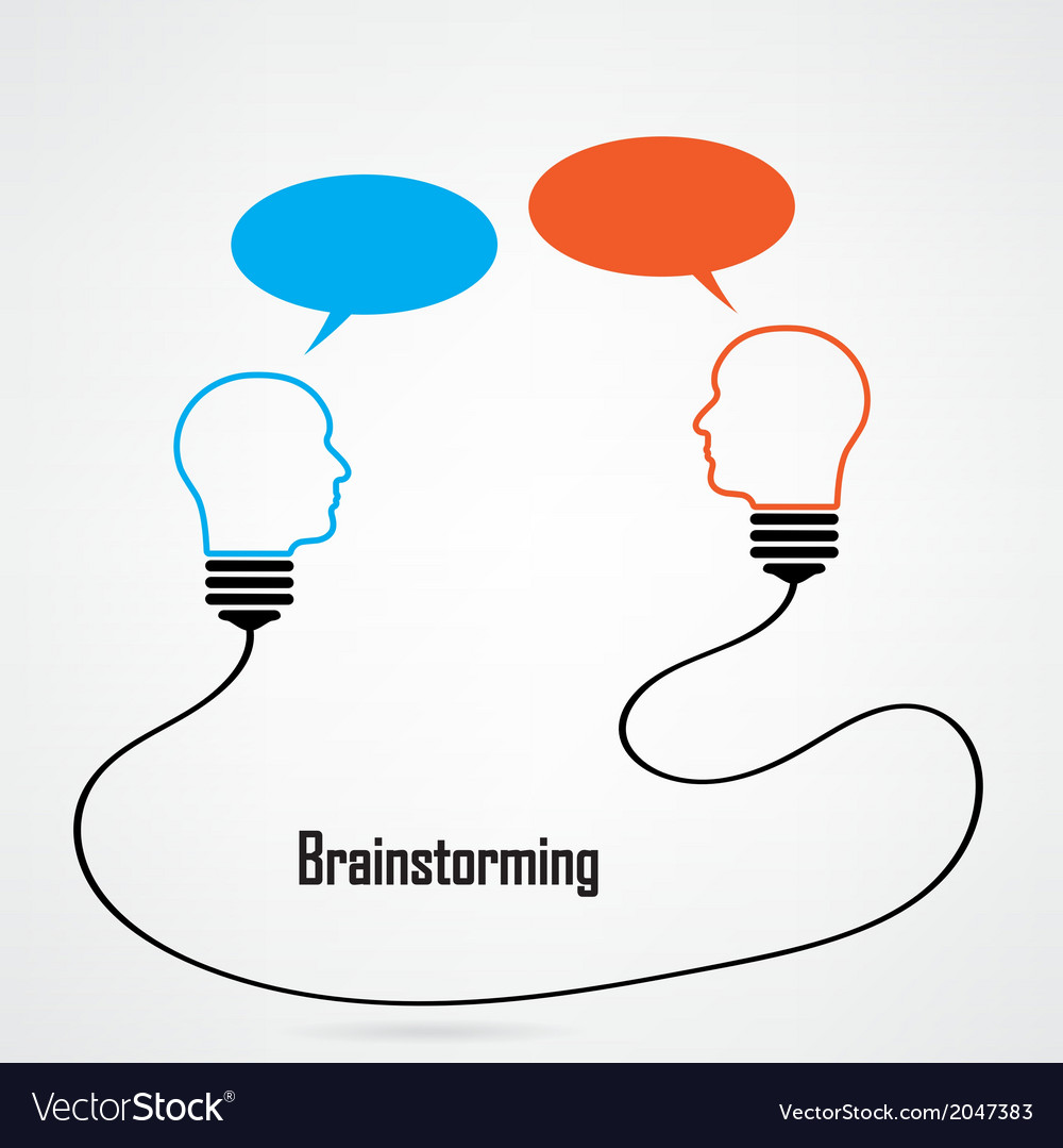 Light bulb idea and brainstorming concept vector | Price: 1 Credit (USD $1)