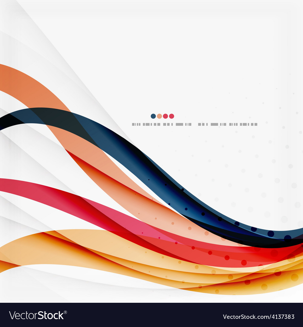Red and orange color lines composition vector | Price: 1 Credit (USD $1)
