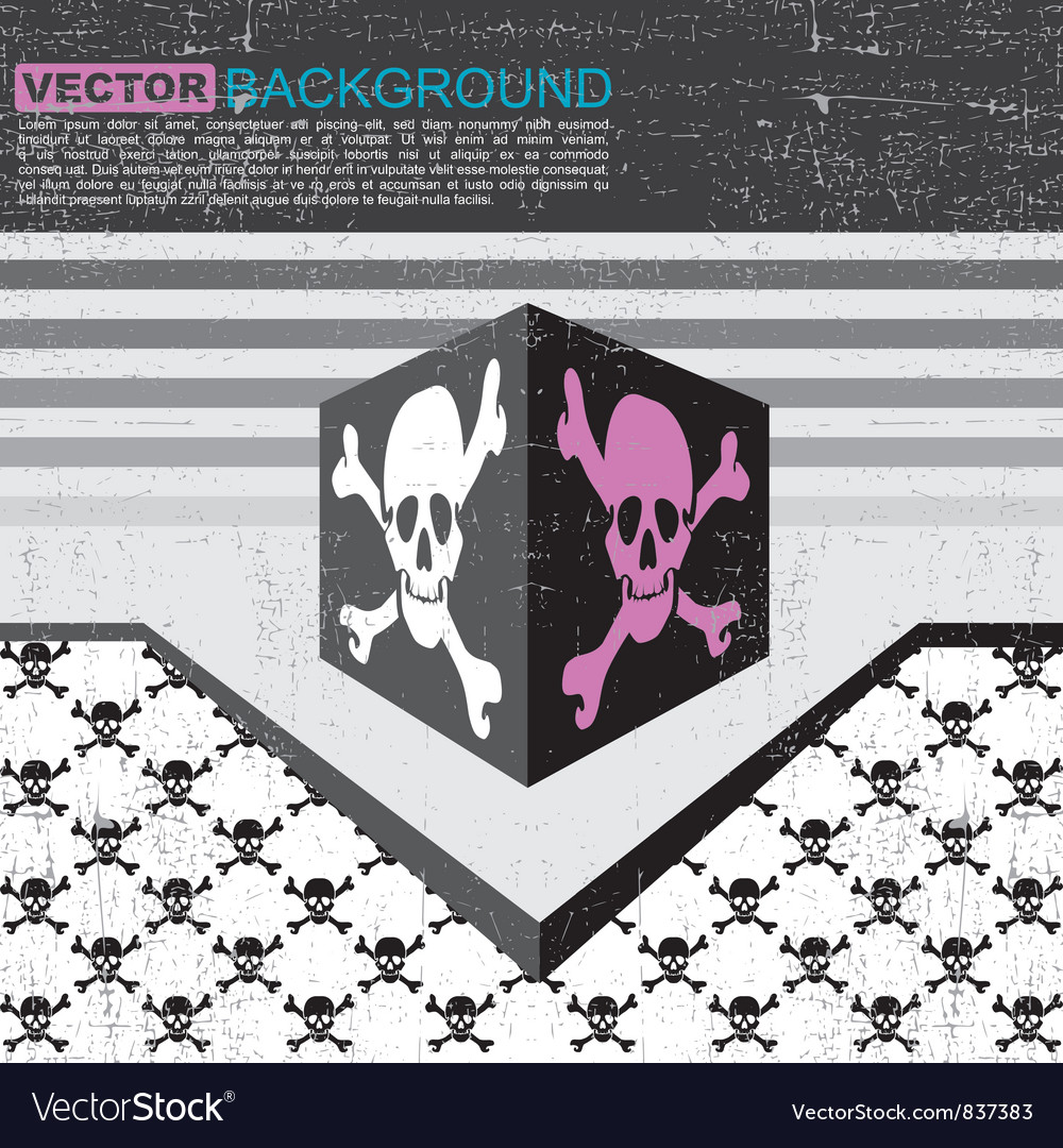 Skulls in box vector | Price: 1 Credit (USD $1)