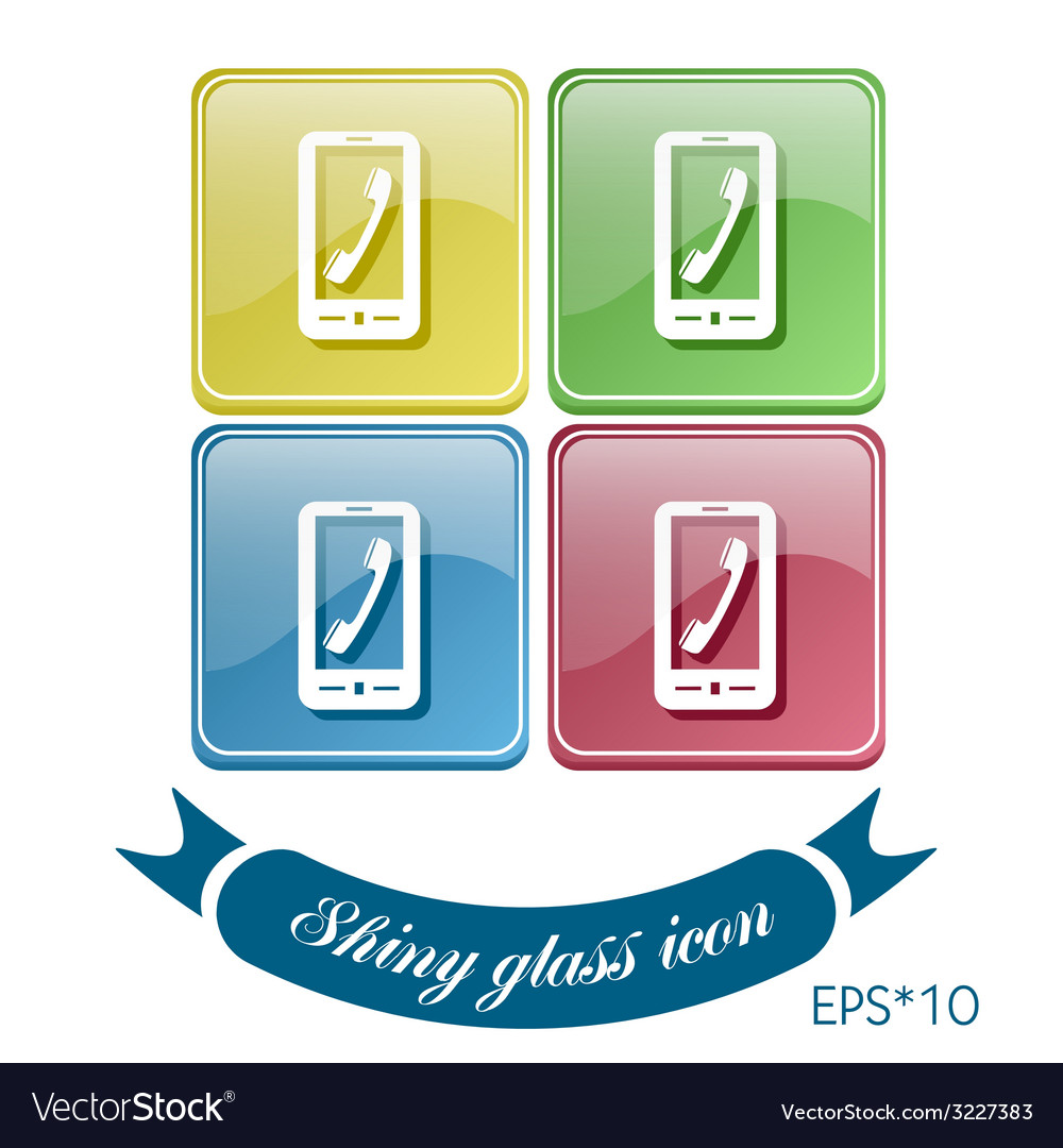 Smartphone with the symbol telephone handset vector | Price: 1 Credit (USD $1)