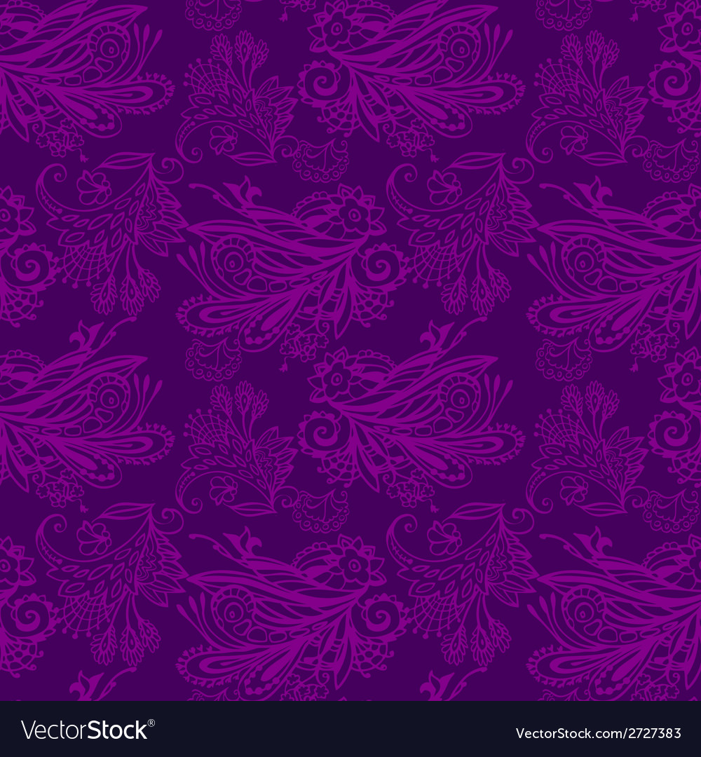 Violet floral seamless pattern vector | Price: 1 Credit (USD $1)