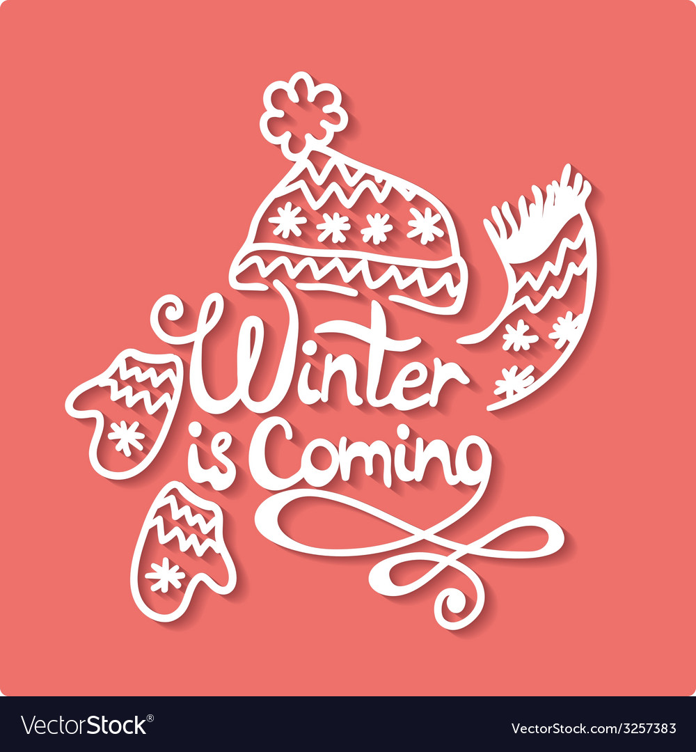 Winter is coming christmas frame vector | Price: 1 Credit (USD $1)
