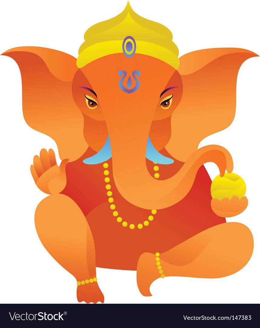 Yoga icons ganesh statue vector | Price: 1 Credit (USD $1)