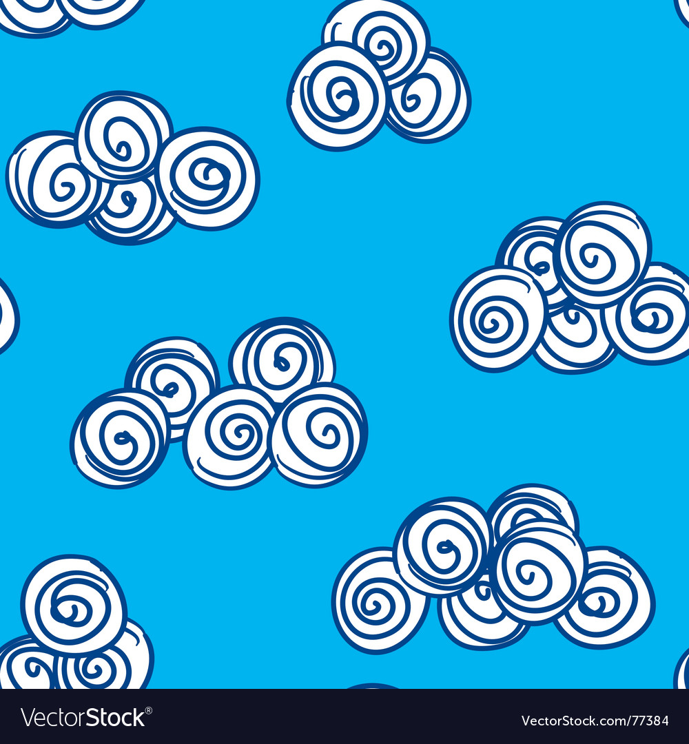 Abstract day clouds background seamless vector   Price: 1 Credit (USD $1)