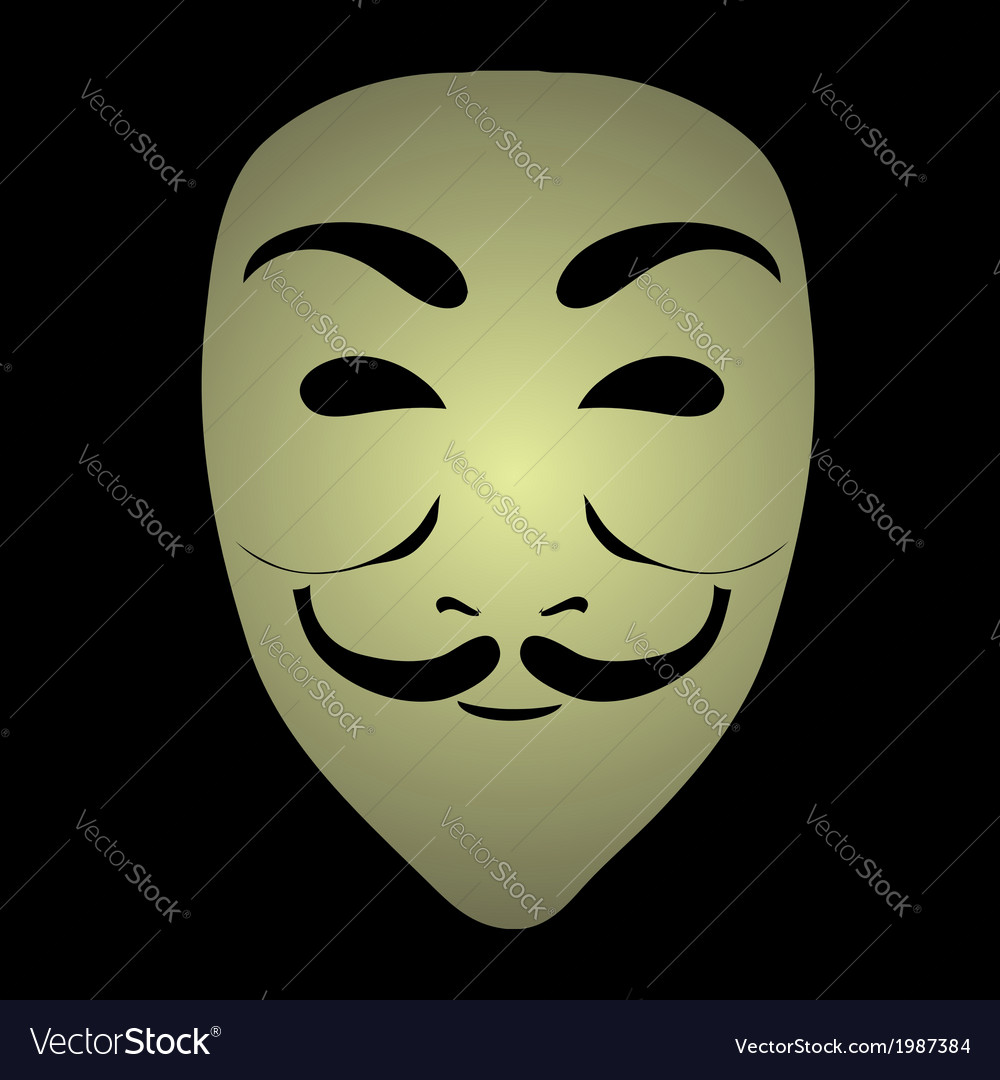 Anonymous mask vector | Price: 1 Credit (USD $1)