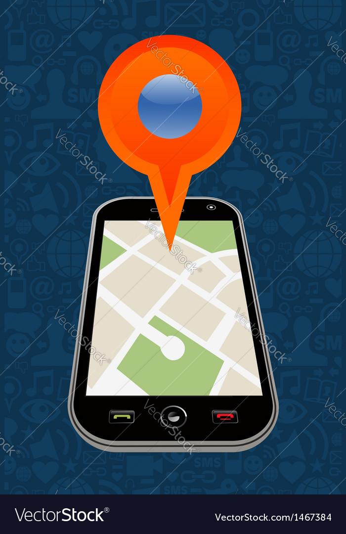 Gps city map arrow vector | Price: 1 Credit (USD $1)