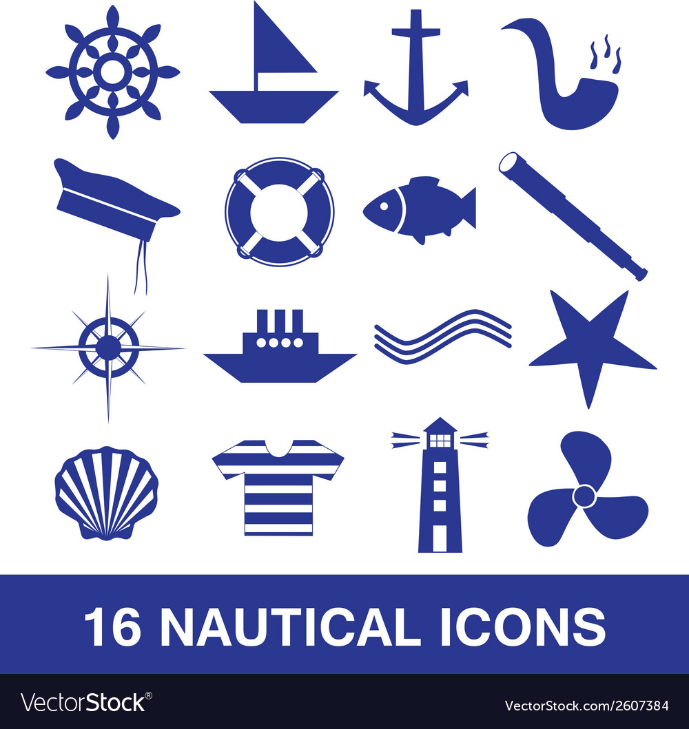 Nautical icon collection eps10 vector | Price: 1 Credit (USD $1)
