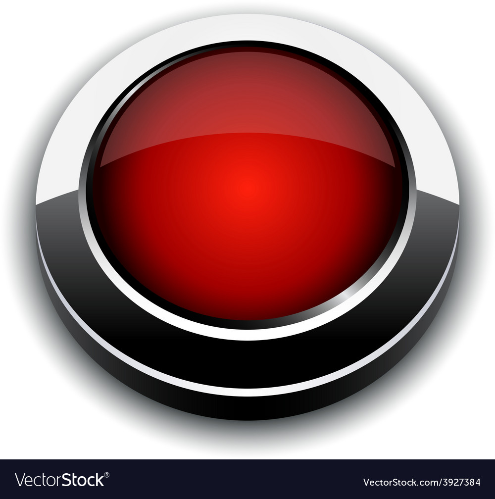 Red 3d button vector | Price: 1 Credit (USD $1)