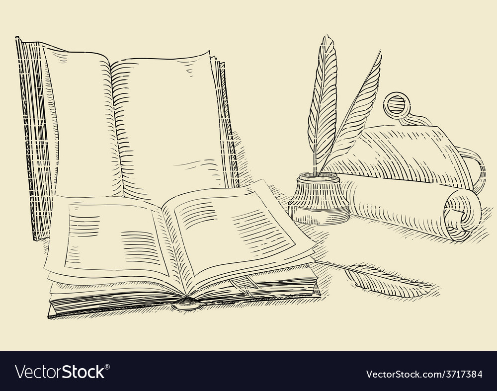 Retro books vector | Price: 1 Credit (USD $1)