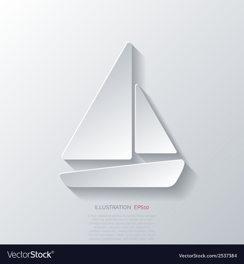 Sailboat ship icon vector   Price: 1 Credit (USD $1)