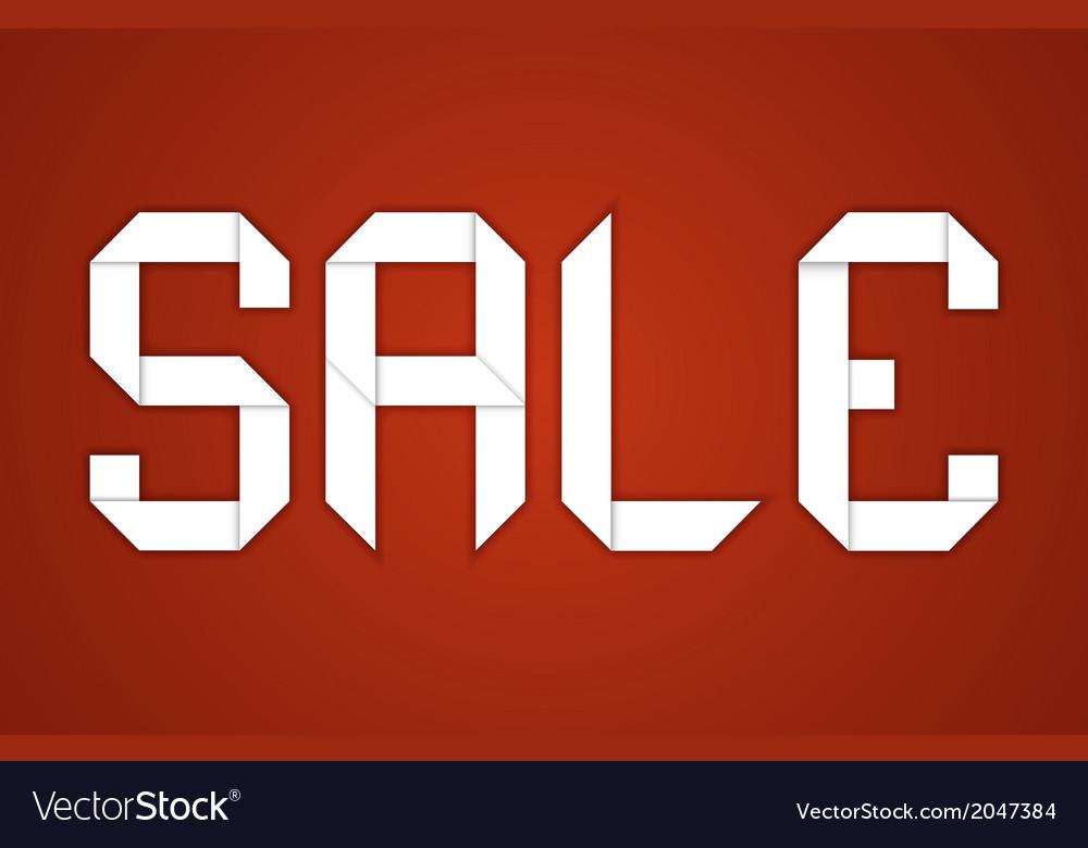 Sale paper folding design vector   Price: 1 Credit (USD $1)