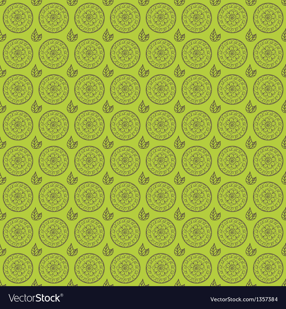 Seamless floral pattern with hand drawn elements vector | Price: 1 Credit (USD $1)