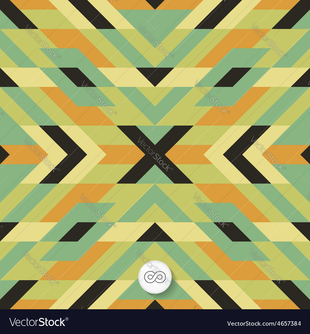 Seamless mosaic pattern geometric background vector | Price: 1 Credit (USD $1)