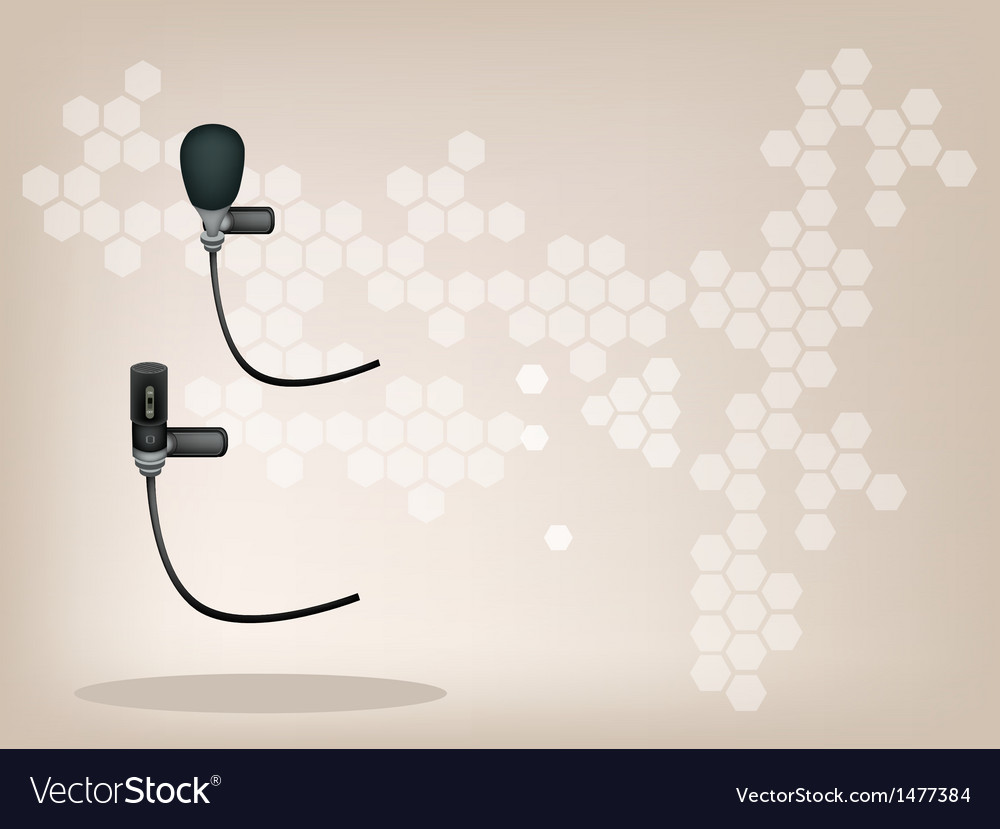 Wireless microphone brown background vector | Price: 1 Credit (USD $1)