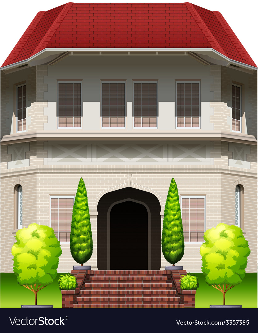 A big old building vector | Price: 1 Credit (USD $1)