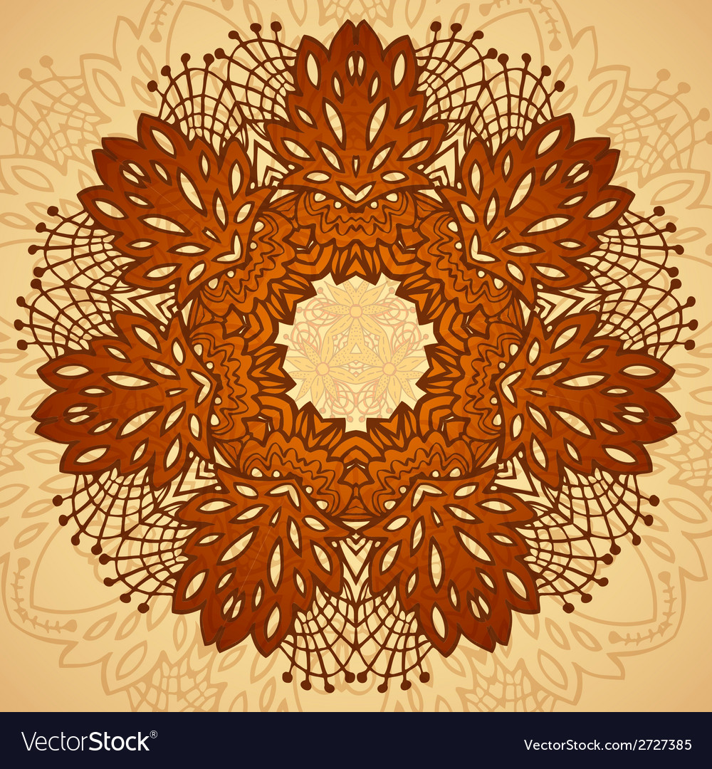 Chocolate flower seamless pattern vector | Price: 1 Credit (USD $1)