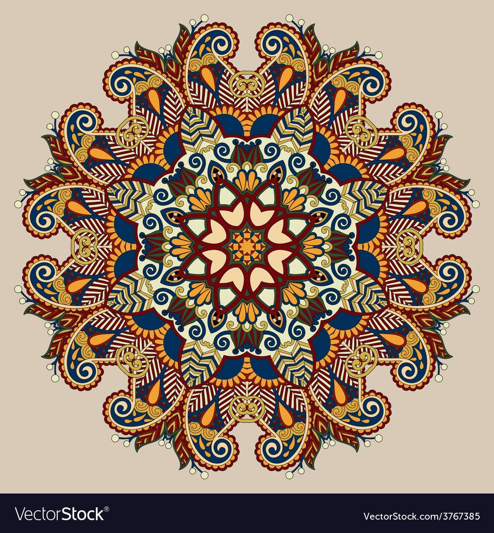 Circle decorative spiritual indian symbol of lotus vector | Price: 1 Credit (USD $1)