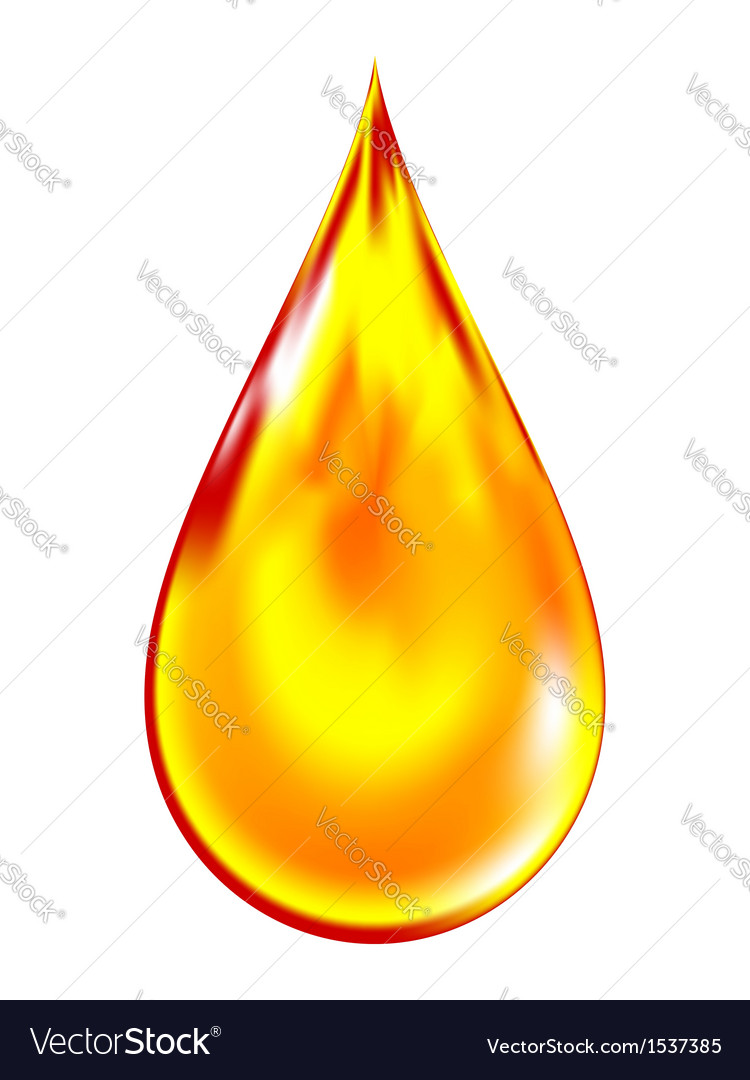 Golden drop of oil vector | Price: 1 Credit (USD $1)