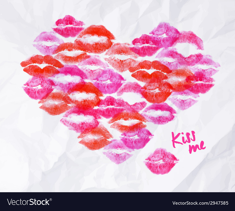Heart lipstick kiss vector | Price: 1 Credit (USD $1)