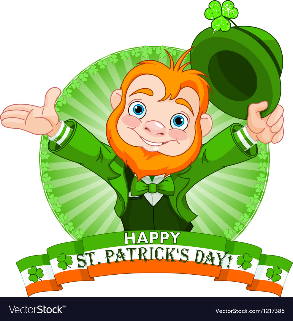 Leprechaun greeting vector | Price: 1 Credit (USD $1)