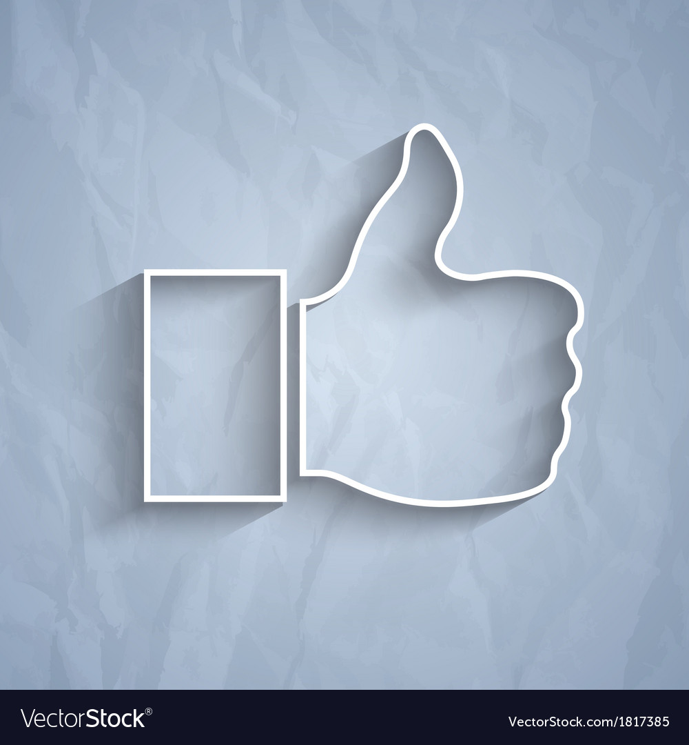 Like symbol on grey background vector | Price: 1 Credit (USD $1)