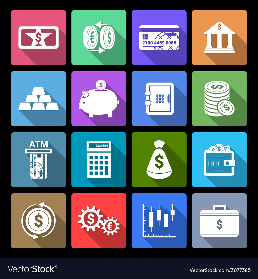 Money finance icons vector | Price: 1 Credit (USD $1)