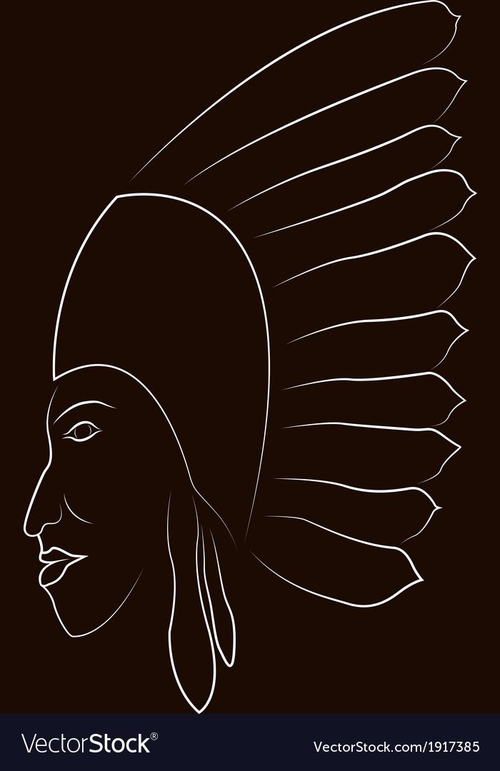 Native american portrait vector   Price: 1 Credit (USD $1)