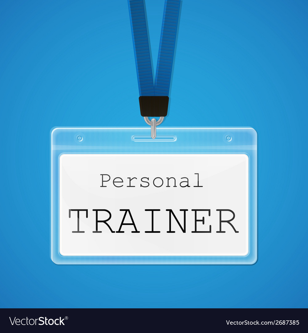 Personal trainer vector | Price: 1 Credit (USD $1)