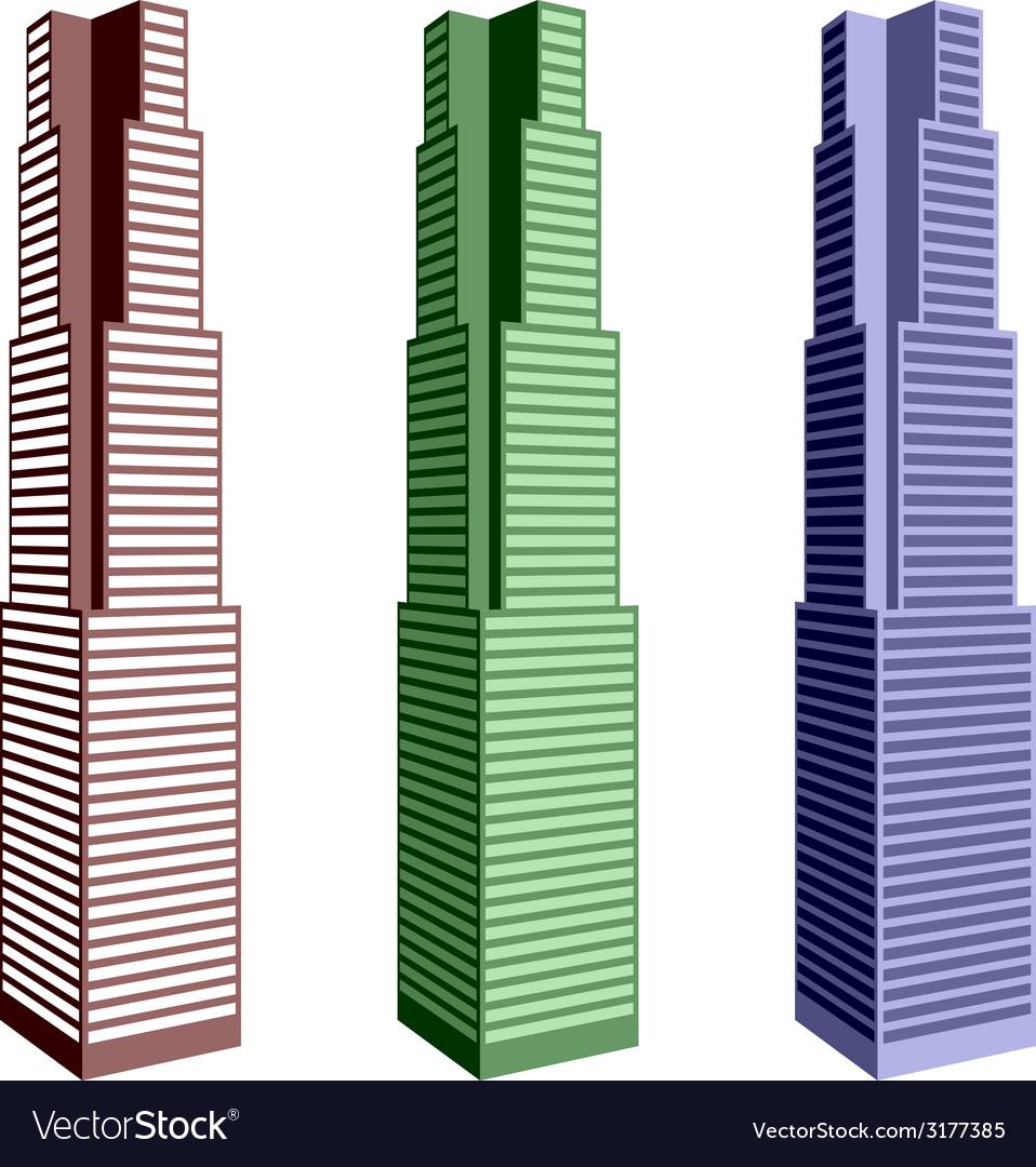 Skyscraper symbols vector   Price: 1 Credit (USD $1)