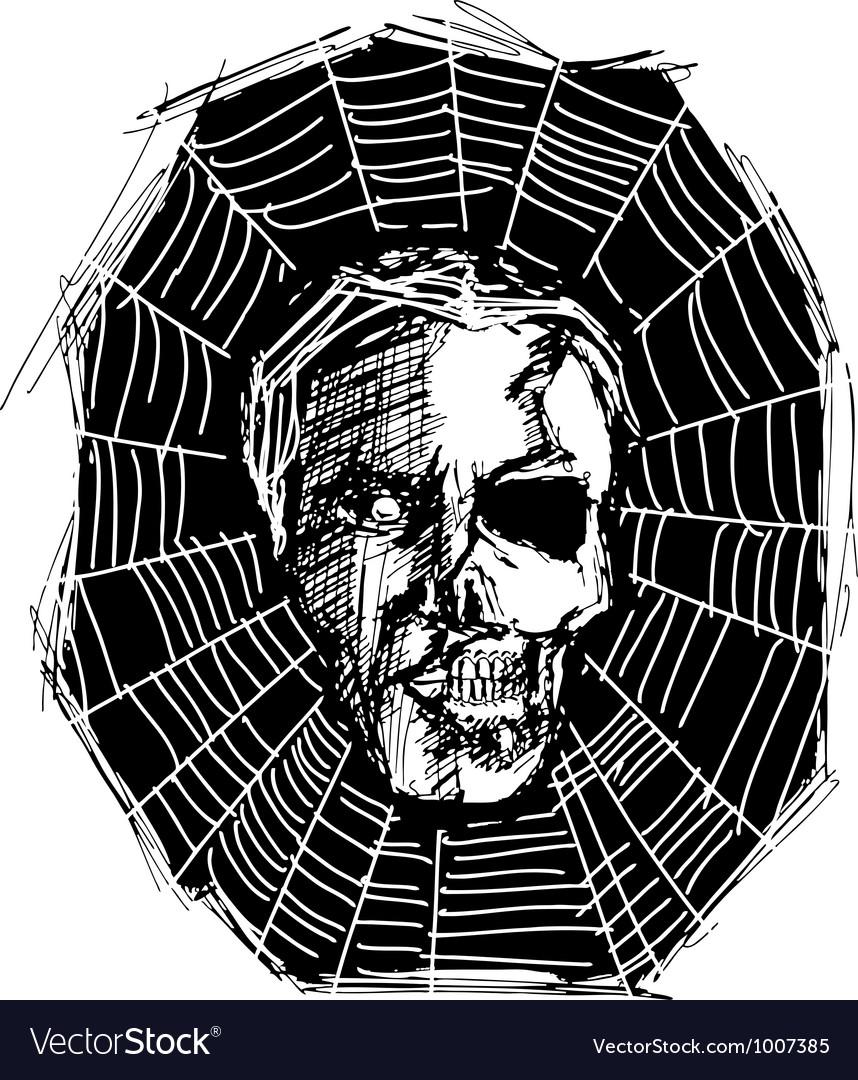 Spider web vector | Price: 1 Credit (USD $1)