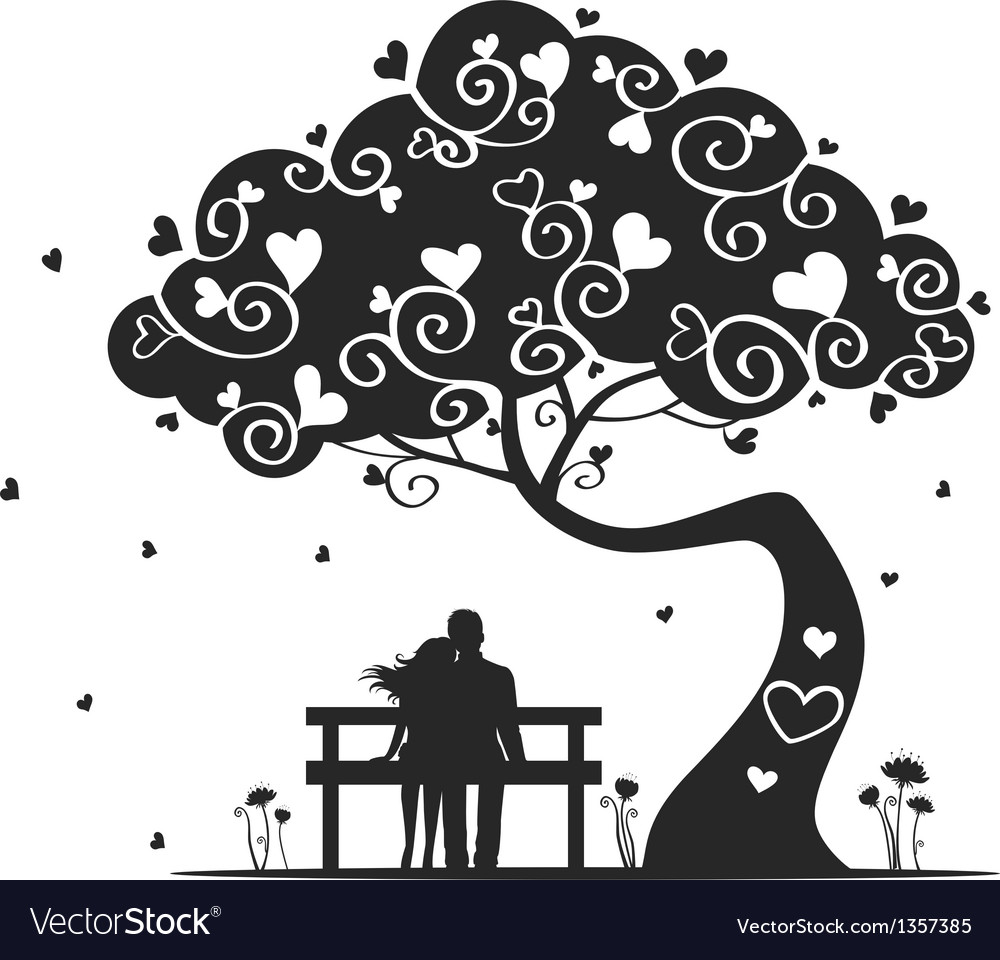 Tree love vector