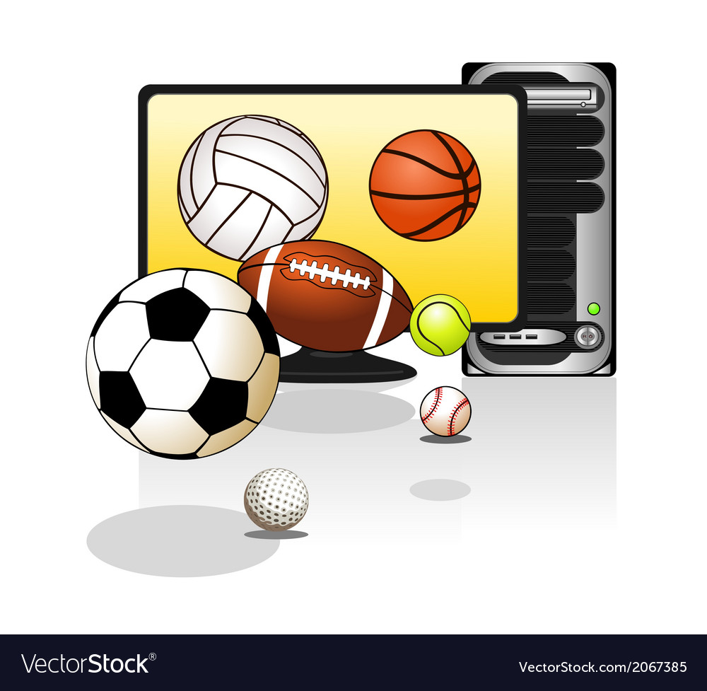 Various sports balls with computer vector | Price: 1 Credit (USD $1)