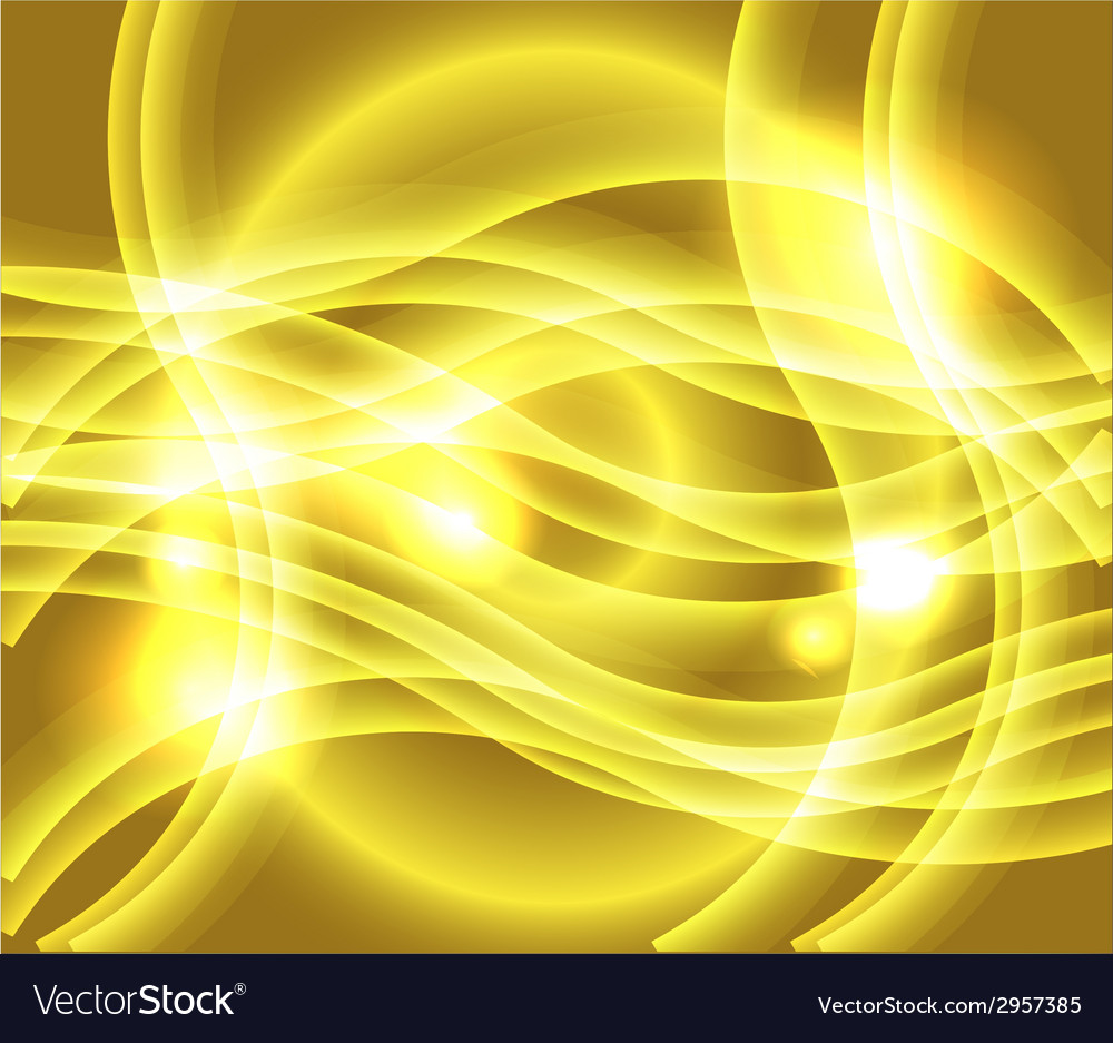 Waves of yellow background vector | Price: 1 Credit (USD $1)