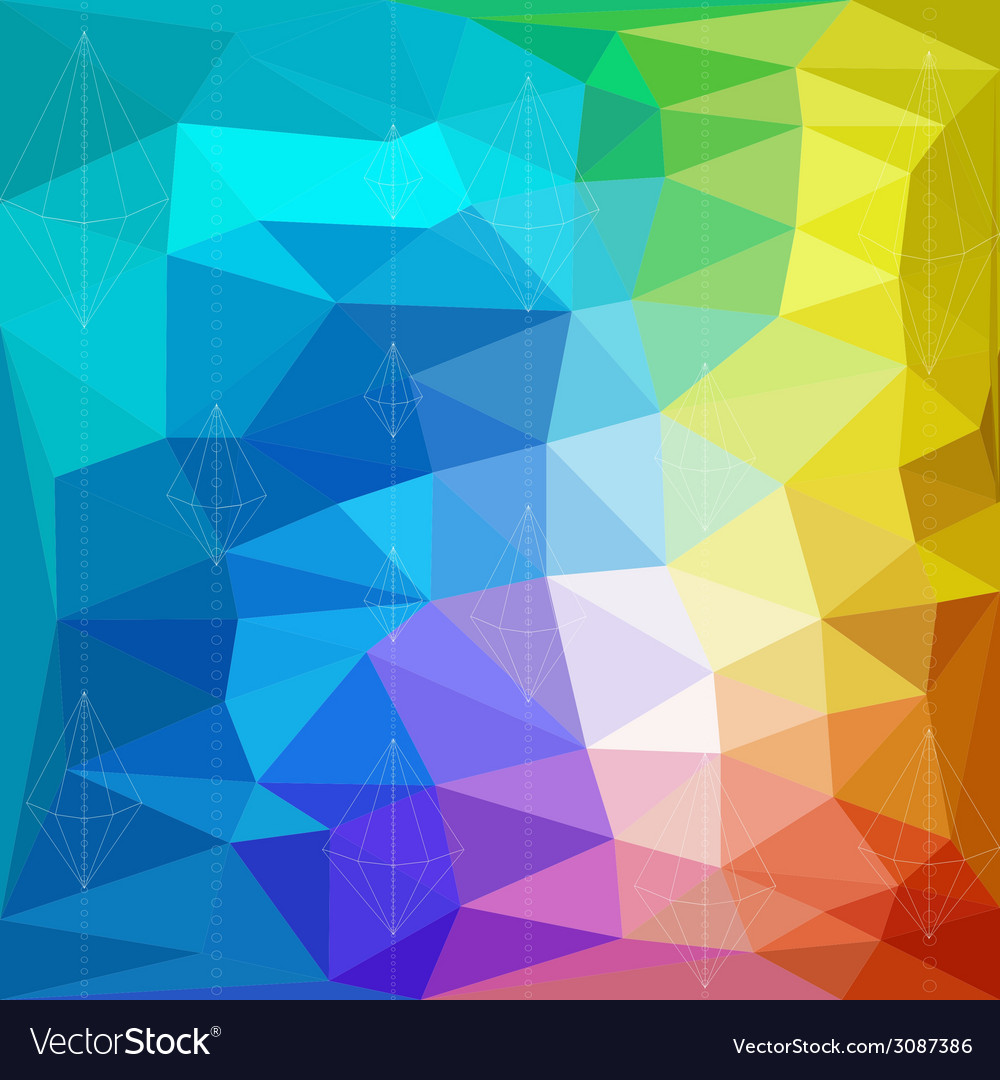 Abstract triangle geometrical multicolored vector | Price: 1 Credit (USD $1)