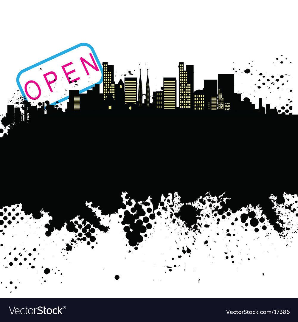 Grunge city design vector | Price: 1 Credit (USD $1)