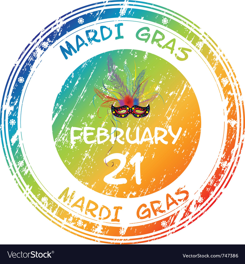 Mardi gras grunge vector | Price: 1 Credit (USD $1)