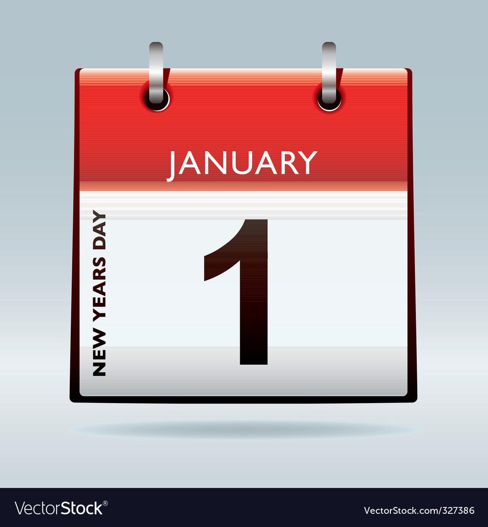 New years eve calendar vector | Price: 1 Credit (USD $1)