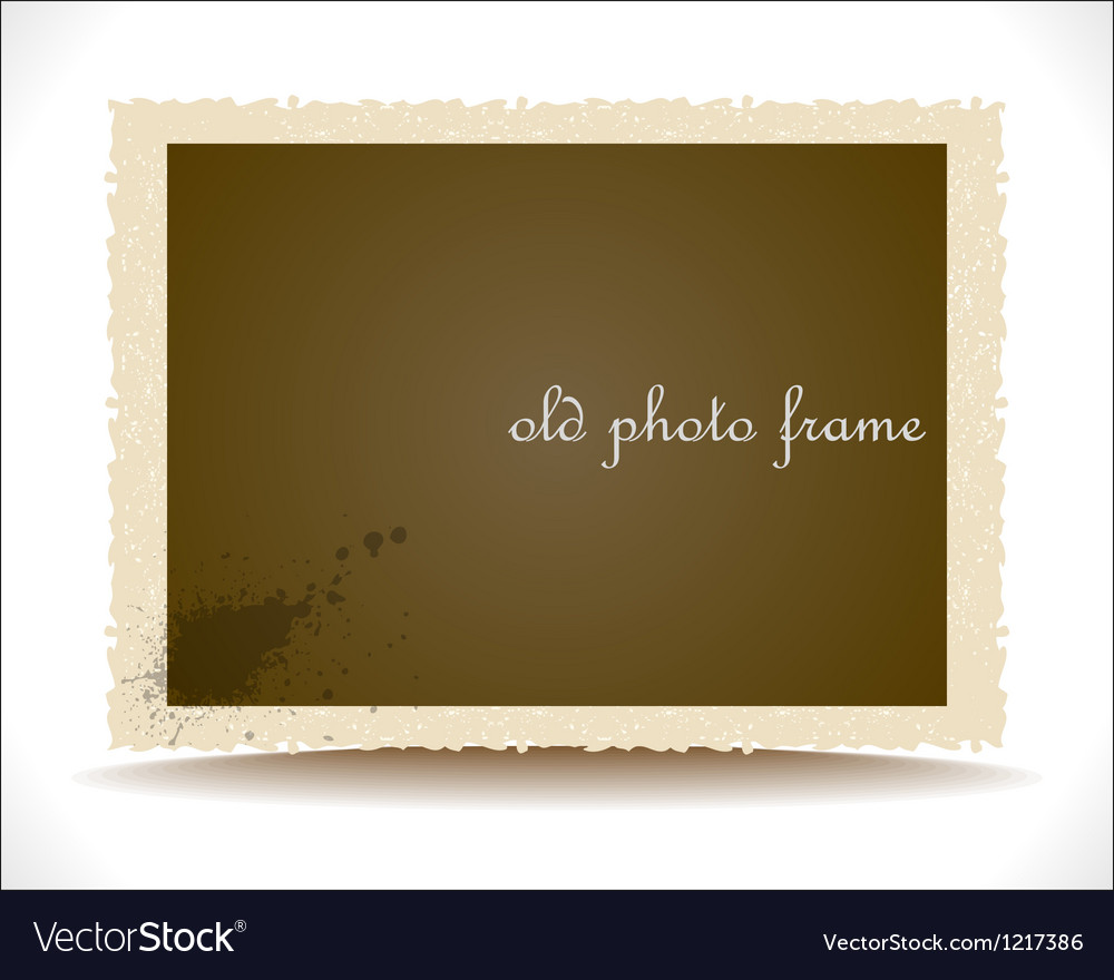 Old photo frame vector   Price: 1 Credit (USD $1)
