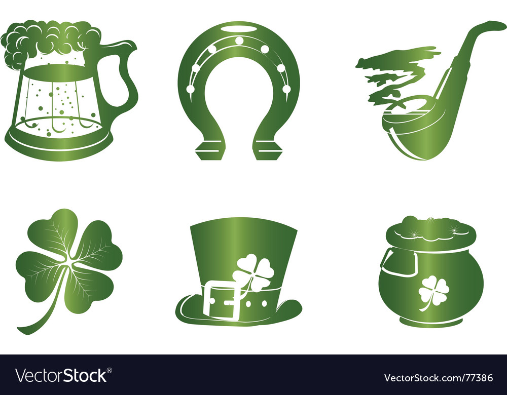 St. patrick's day icon set vector | Price: 1 Credit (USD $1)