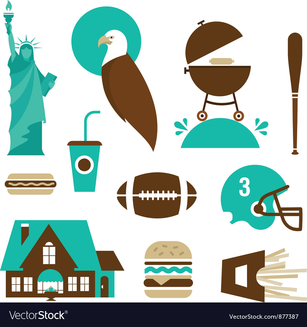 American stereotypes vector | Price: 1 Credit (USD $1)