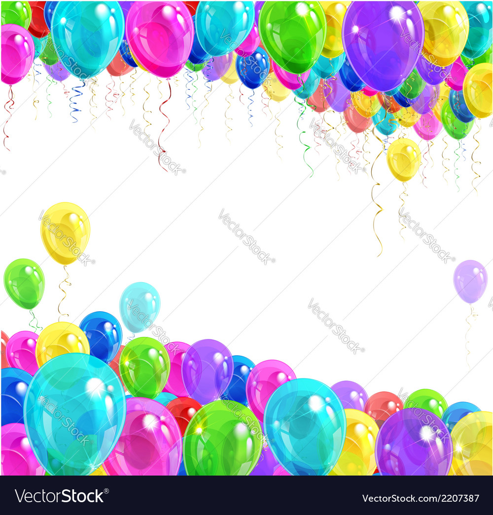 Banner of balloons vector   Price: 1 Credit (USD $1)