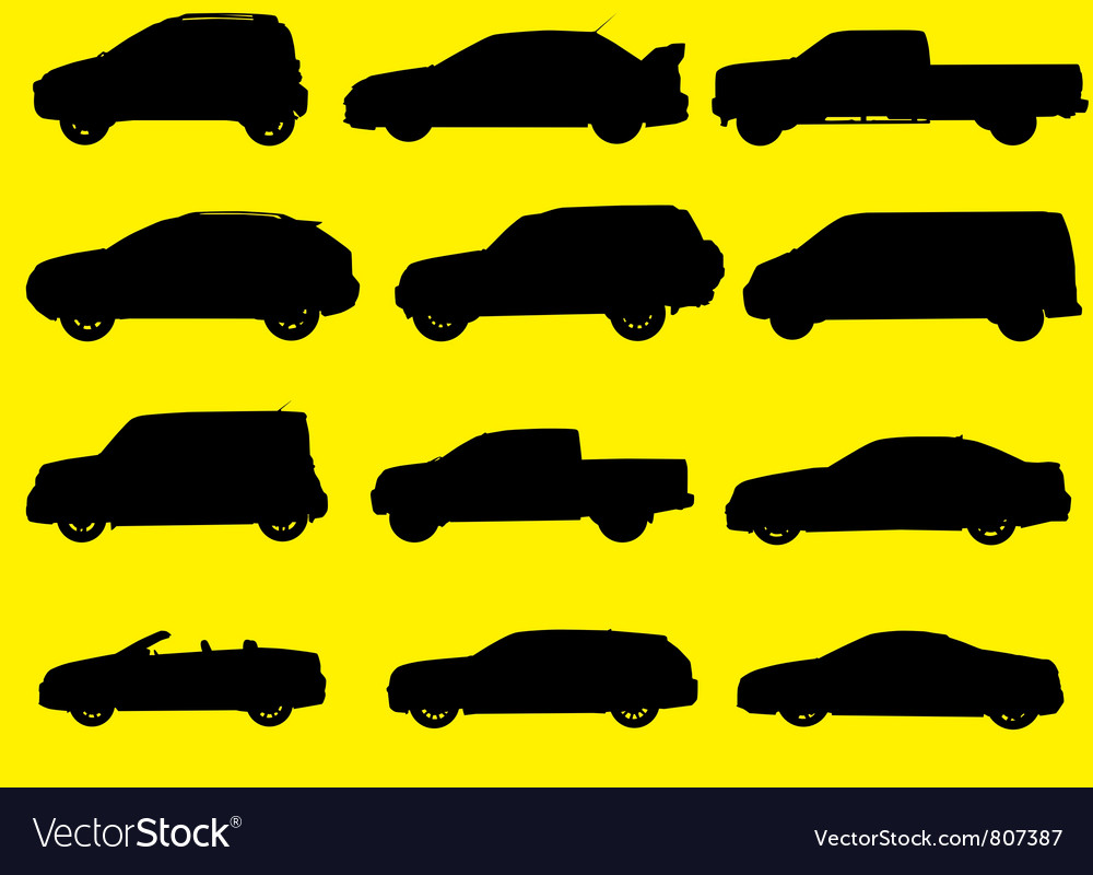 Cars silhouettes part 1 vector | Price: 1 Credit (USD $1)