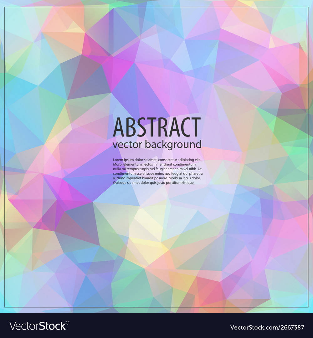 Colorful mosaic banner vector   Price: 1 Credit (USD $1)